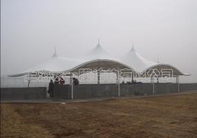 海洋大学体育场膜结构看台-6