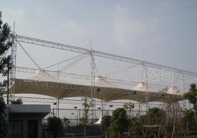 宝山蓝球场膜结构-5