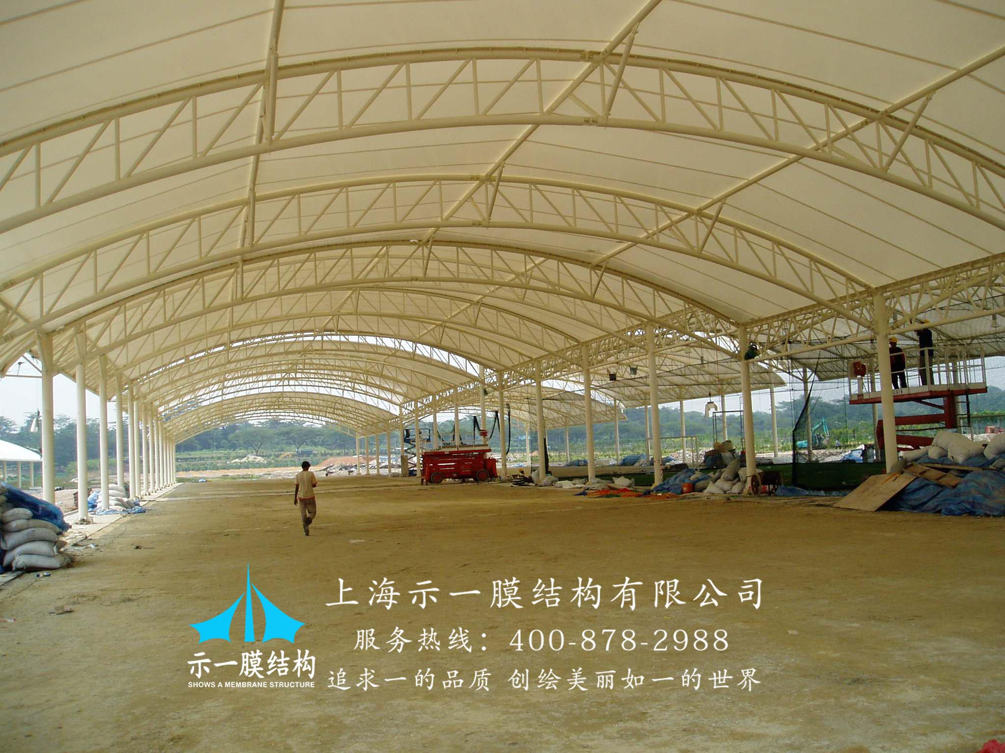 膜结构厂区中转区顶棚1031233