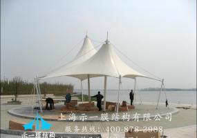 景区膜结构遮阳棚10302