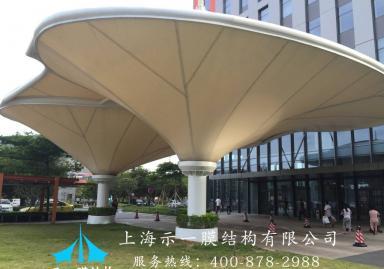 膜结构商场造型遮阳棚1031236