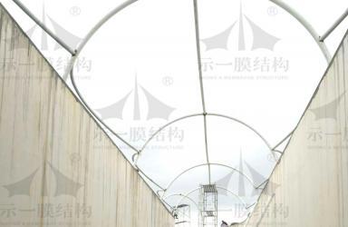 上海示一膜结构诸暨碧水源再生水资源1号通道工程