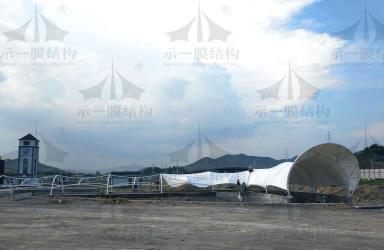 上海示一膜结构诸暨碧水源再生水资源1号通道工程第二波