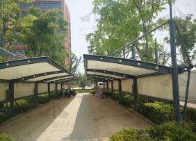 上海示一膜结构海门临江产业园PTFE膜结构停车棚