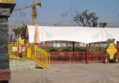 游乐园膜结构遮阳雨棚