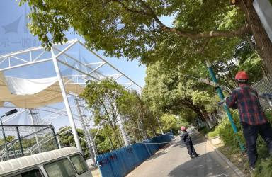 上海示一膜结构张家港西城体育中心膜结构二