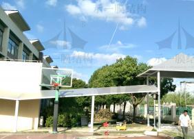上海示一膜结构英国学校膜结构遮阳棚