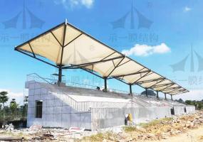 上海示一膜结构之广西柳州柳江公园膜结构看台