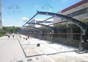 上海示一膜结构之苏州太湖广场膜结构停车棚