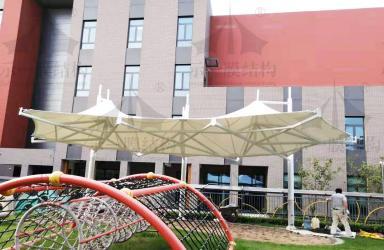上海示一膜结构苏州海归人才子女幼儿园沙坑景观膜结构