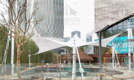 江苏南京游泳池遮阳张拉膜工程分享
