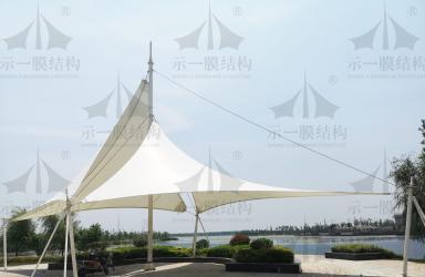 上海示一膜结构海门临江产业园张拉膜