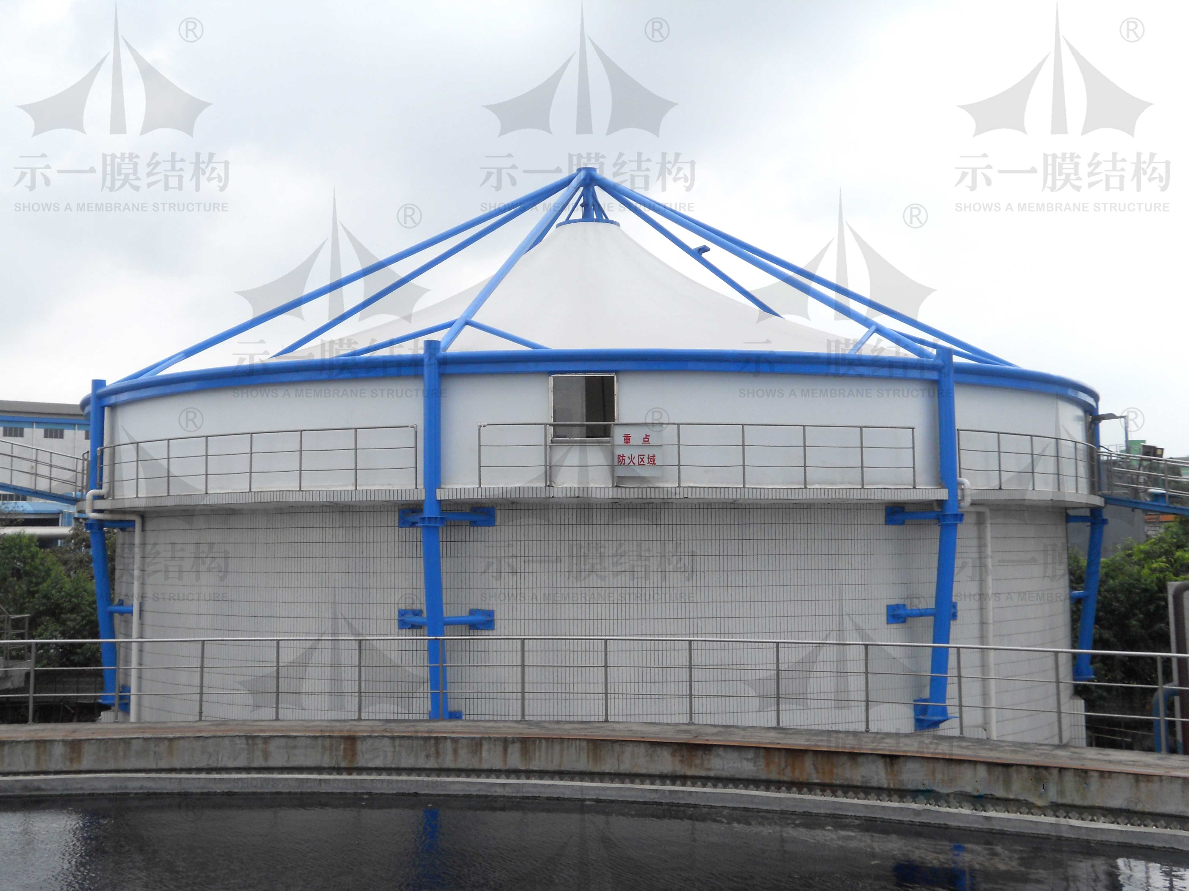 污水池加盖膜结构10308