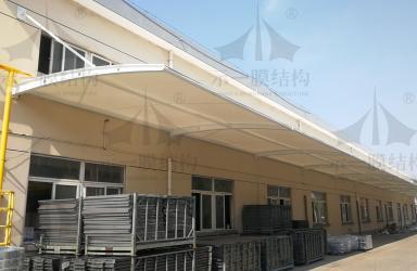 上海示一膜结构之浙江嘉善物流公司膜结构雨棚