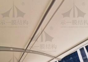 上海示一膜结构之康达顺精密汽车附件制造膜结构车棚