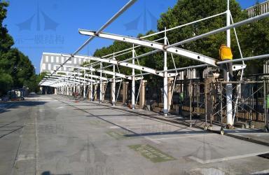 上海示一膜结构上海嘉定教育局膜结构车棚一