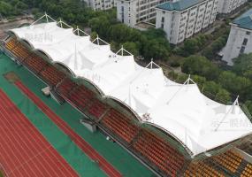 上海示一膜结构南京东南大学九龙湖小区膜结构体育看台二