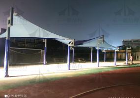 上海示一膜结构上海英国子女学校遮阳帆(一)