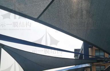 上海示一膜结构上海英国子女学校遮阳帆(二)