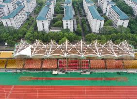 上海示一膜结构南京东南大学九龙湖校区膜结构体育看台一