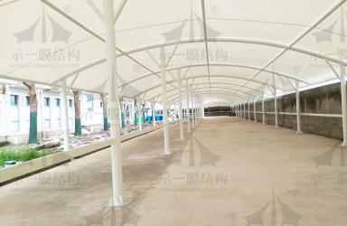 上海示一膜结构之上海奉贤药厂膜结构电动车棚