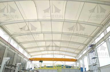 上海示一膜结构柘电膜结构遮阳雨棚