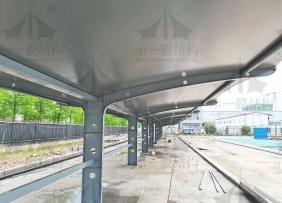上海示一膜结构武汉嘉民物流园膜结构停车棚